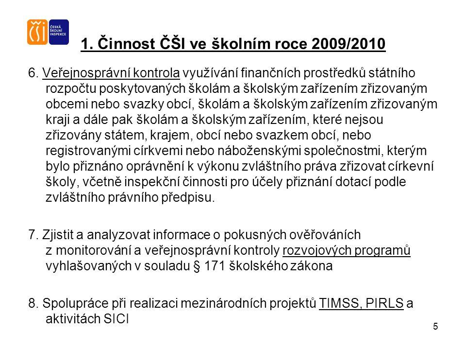 5 1. Činnost ČŠI ve školním roce 2009/2010 6.