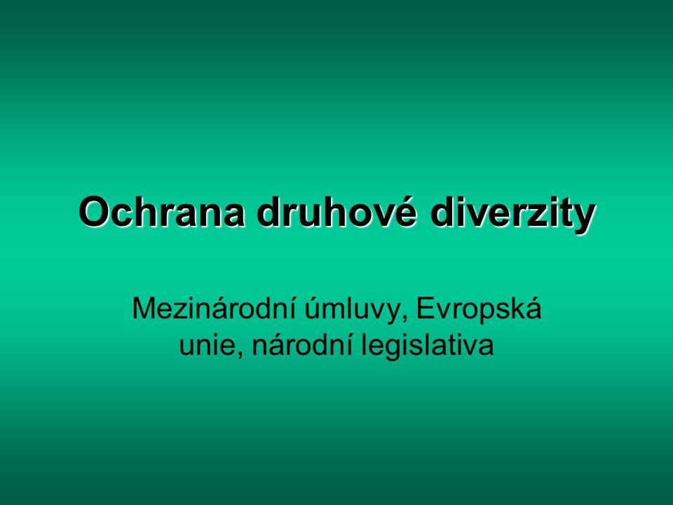 Ochrana druhové diverzity Mezinárodní úmluvy, Evropská unie, národní legislativa