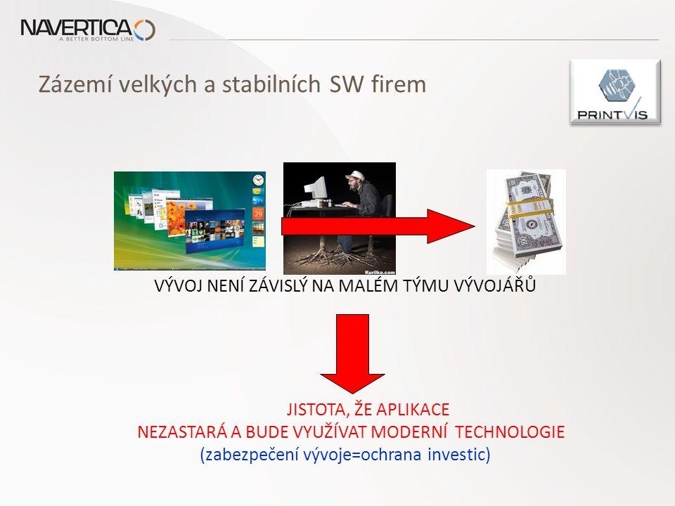 Zázemí velkých a stabilních SW firem STABILITA DODAVATELŮ OCHRANA INVESTICE DO ERP