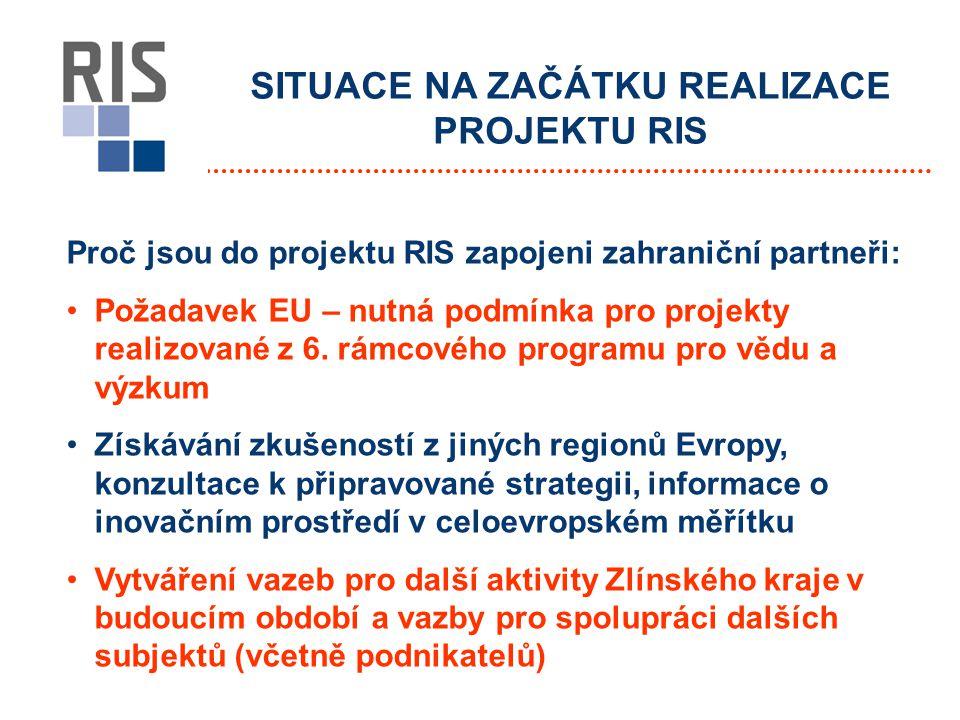 Proč jsou do projektu RIS zapojeni zahraniční partneři: Požadavek EU – nutná podmínka pro projekty realizované z 6.