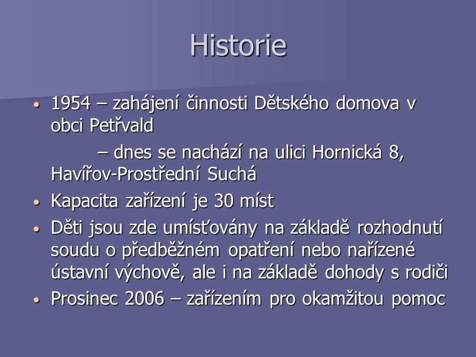 Organizační struktura zařízení Ředitelství: Ředitelství: Dětské centrum Čtyřlístek, p.o.