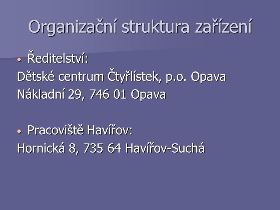 Personální vybavení Ředitel: Mgr.Petr Fabián Ředitel: Mgr.