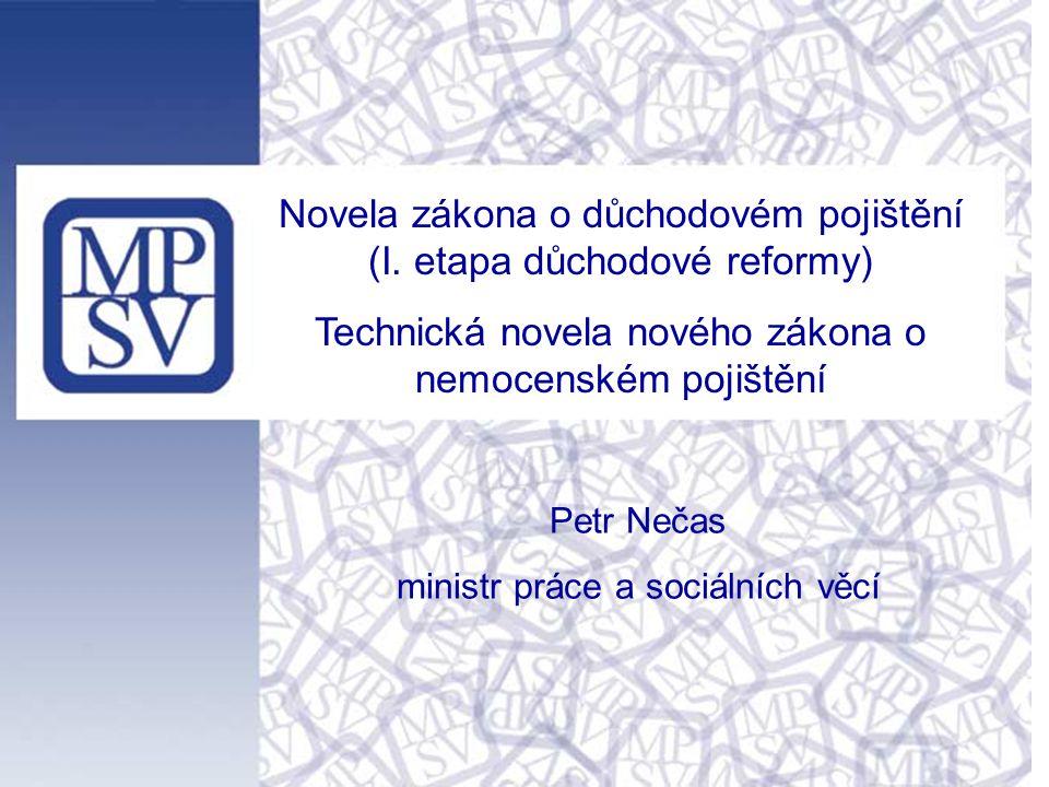 Novela zákona o důchodovém pojištění (I.