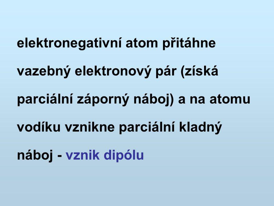 vazba má kombinovaný charakter van der Waalsovy síly dipól - dipól (elektrostatické přitahování) s určitým podílem koordinačně kovalentní vazby (do vznikající vazby vstupují dva elektrony z nevazebného páru elektronegativního atomu, vodík poskytuje pouze prázdné AO)