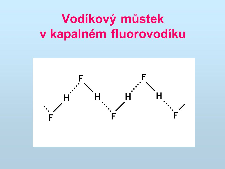 Vodíková vazba je asi 15x slabší než vazba kovalentní, ale významně ovlivňuje fyzikálně-chemické vlastnosti látek (body varu a tání, výparné teplo, viskozitu atd.)