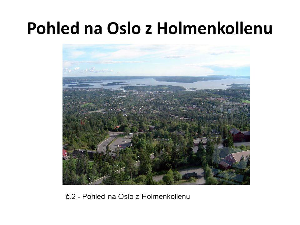 Pohled na Oslo z Holmenkollenu č.2 - Pohled na Oslo z Holmenkollenu