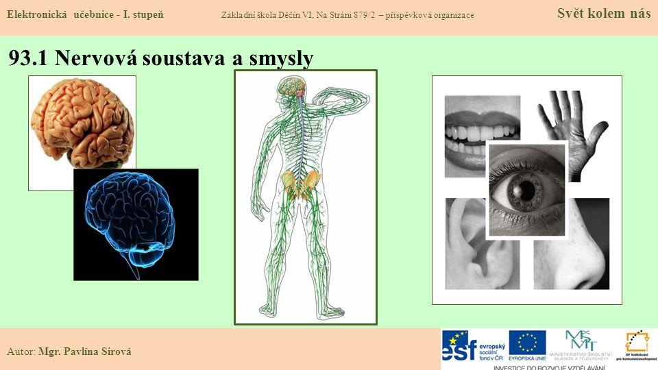 93.1 Nervová soustava a smysly Elektronická učebnice - I.