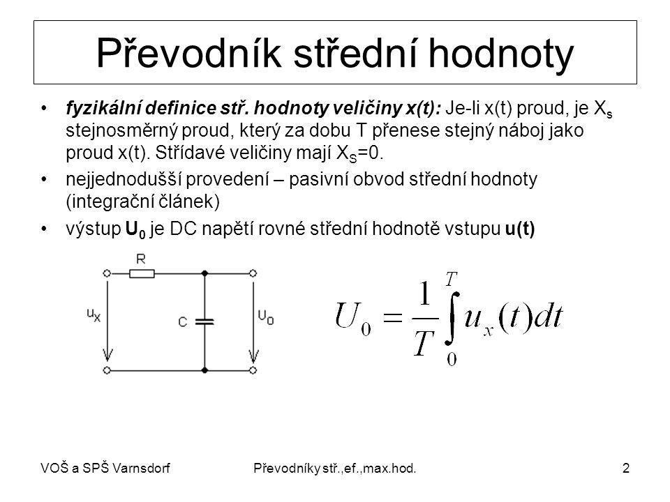 Převodníky stř.,ef.,max.hod.2 Převodník střední hodnoty fyzikální definice stř.