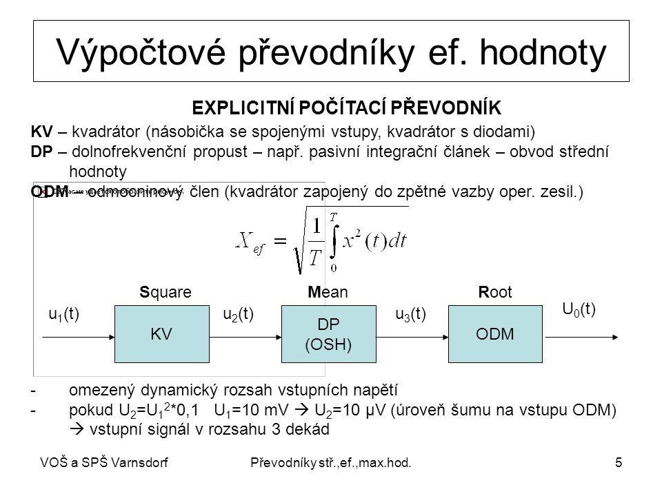 VOŠ a SPŠ VarnsdorfPřevodníky stř.,ef.,max.hod.5 Výpočtové převodníky ef.