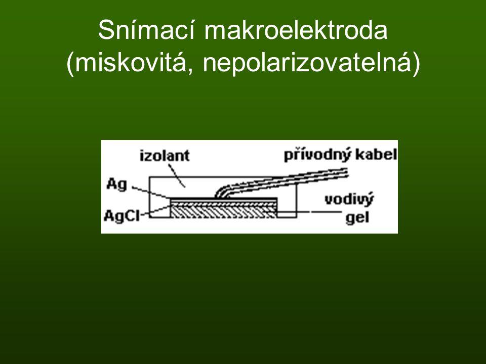 Snímací makroelektroda (miskovitá, nepolarizovatelná)