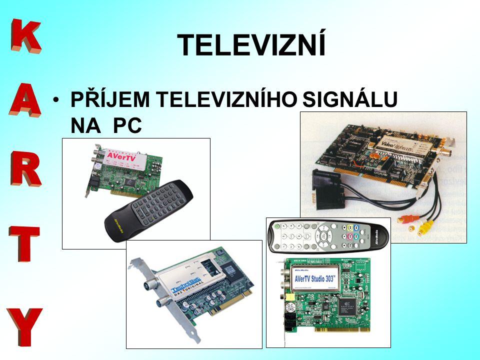 TELEVIZNÍ PŘÍJEM TELEVIZNÍHO SIGNÁLU NA PC