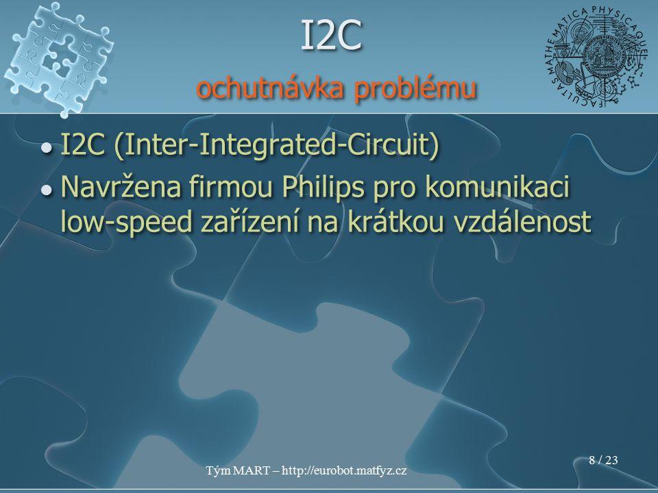 Tým MART – http://eurobot.matfyz.cz 7 / 23 I2C (Inter-Integrated-Circuit) I2C ochutnávka problému