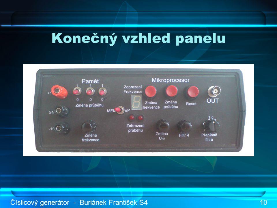 Konečný vzhled panelu Číslicový generátor - Buriánek František S410