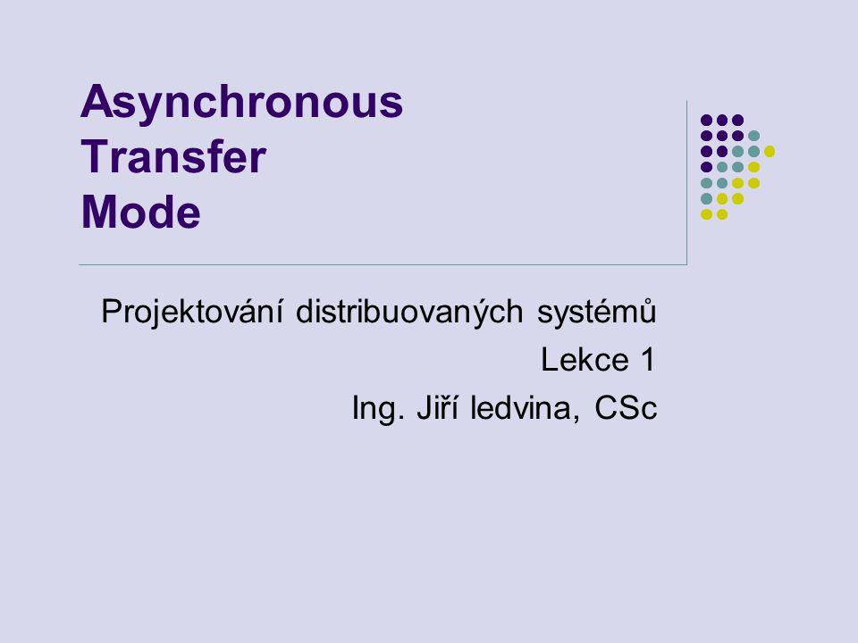 Asynchronous Transfer Mode Projektování distribuovaných systémů Lekce 1 Ing. Jiří ledvina, CSc
