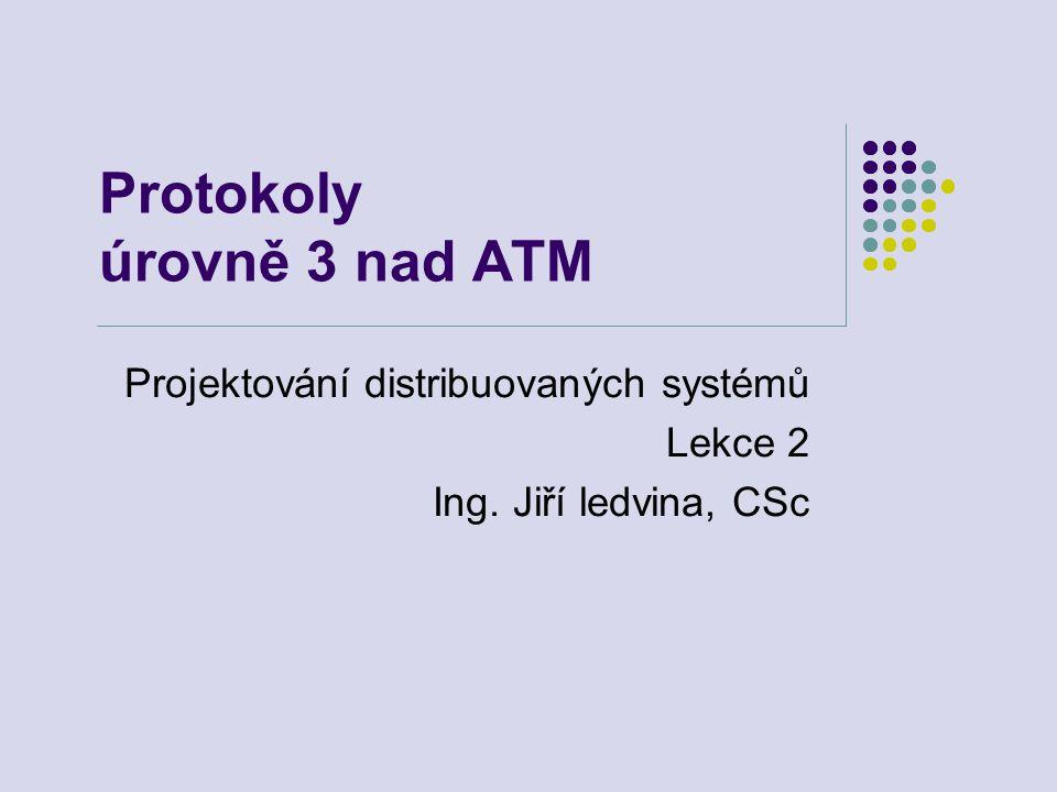 Protokoly úrovně 3 nad ATM Projektování distribuovaných systémů Lekce 2 Ing. Jiří ledvina, CSc