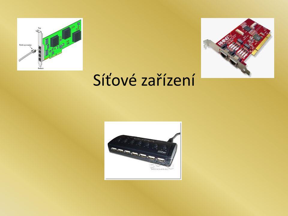 Pojmem síťové zařízení se označují všechna zařízení připojené do počítačové sítě, která přijímají a vysílají data (datagramy) z (do) počítačové sítě.počítačové sítě