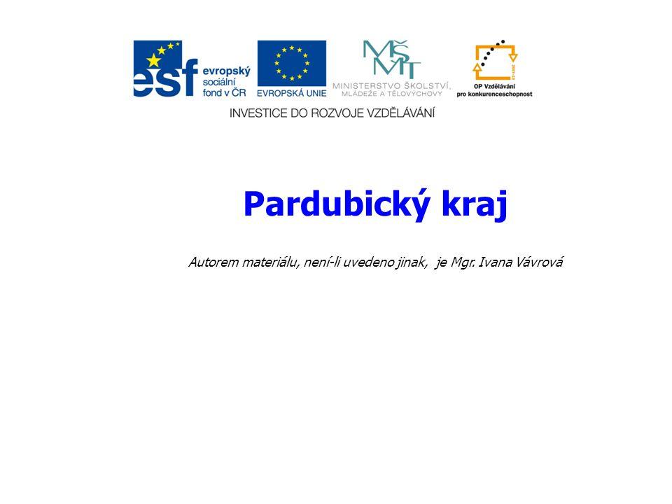 Anotace: Materiál obsahuje prezentaci k poznání Pardubického kraje.