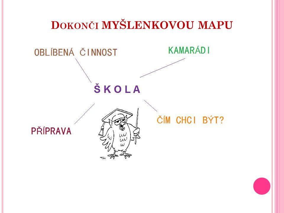 D OKONČI MYŠLENKOVOU MAPU