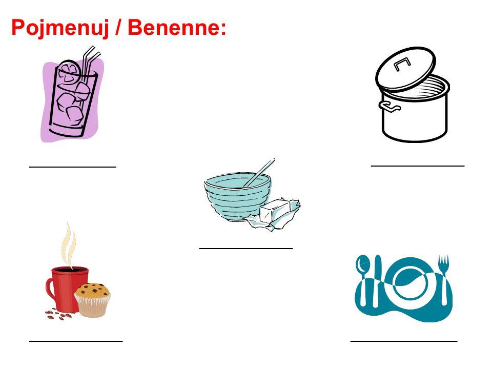 Pojmenuj / Benenne: ______________________________ ______________ _____________
