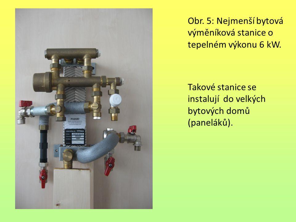 Obr. 5: Nejmenší bytová výměníková stanice o tepelném výkonu 6 kW. Takové stanice se instalují do velkých bytových domů (paneláků).