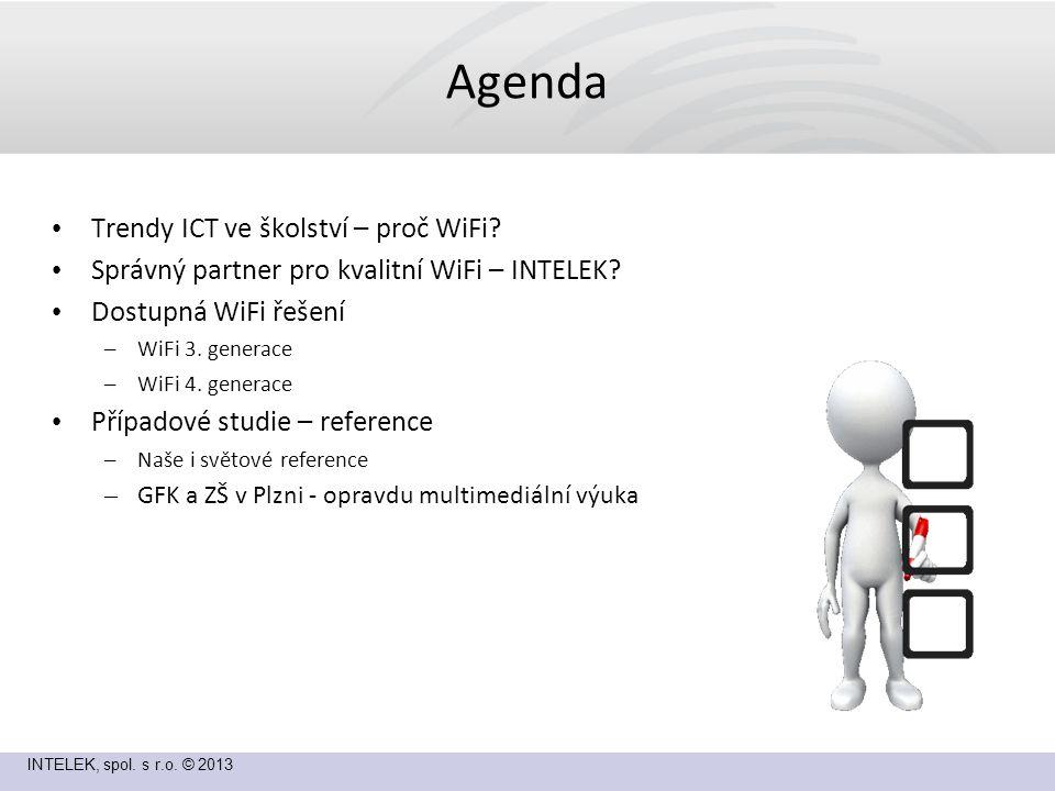 INTELEK, spol. s r.o. © 2013 Agenda Trendy ICT ve školství – proč WiFi.