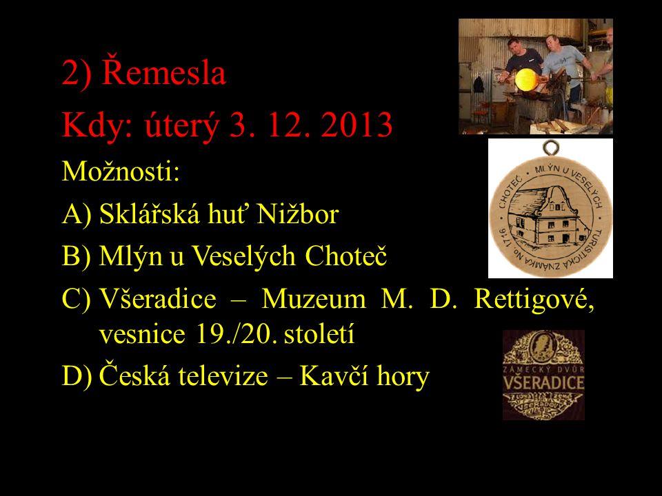 3) Hrady, zámky Kdy: středa 26.2.