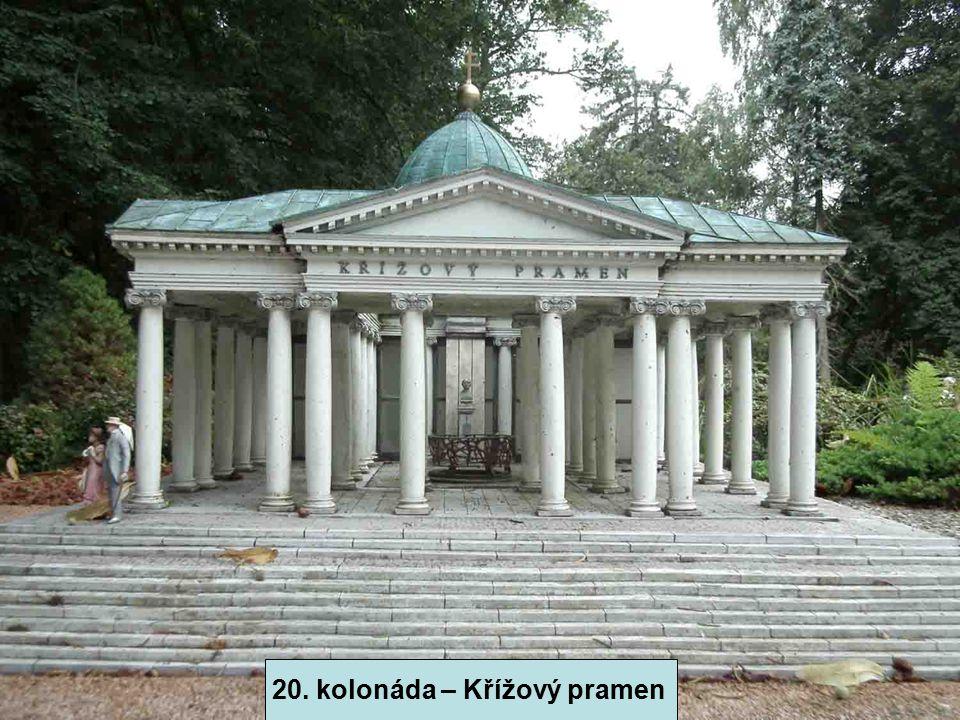 19. kolonáda Karolinina Pramene