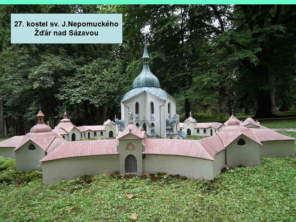 27. kostel sv. J.Nepomuckého Žďár nad Sázavou