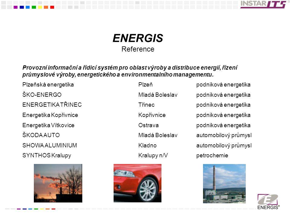 Provozní informační a řídicí systém pro oblast výroby a distribuce energií, řízení průmyslové výroby, energetického a environmentalního managementu.