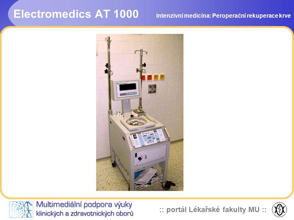 :: portál Lékařské fakulty MU :: Electromedics AT 1000 Intenzivní medicína: Peroperační rekuperace krve