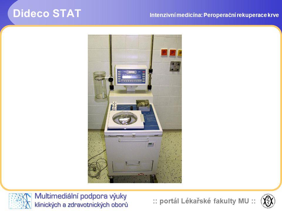 :: portál Lékařské fakulty MU :: Dideco STAT Intenzivní medicína: Peroperační rekuperace krve