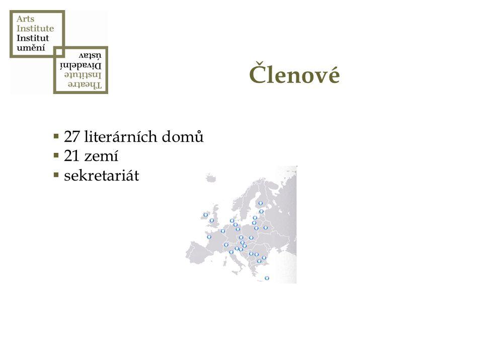 Členové  27 literárních domů  21 zemí  sekretariát