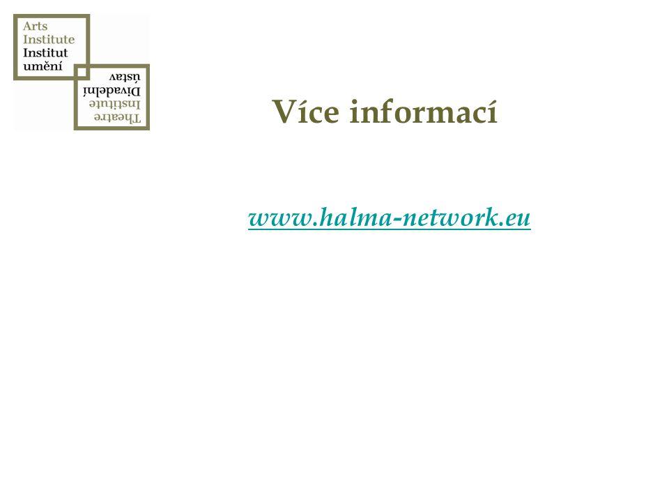 Více informací www.halma-network.eu