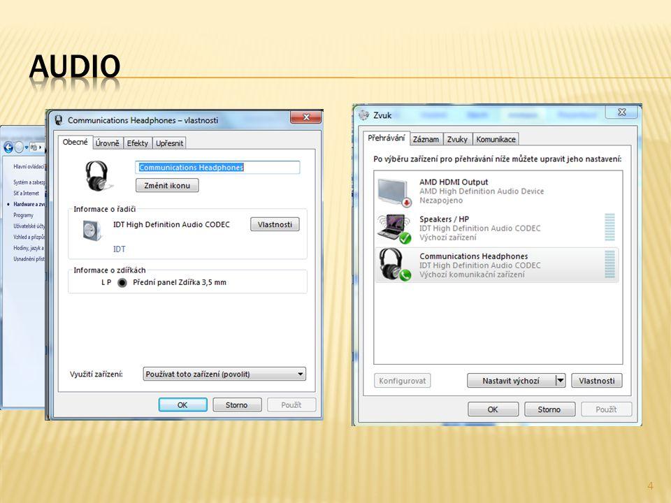  Úprava navigačních prvků – Windows Media Player – Uspořádat –Přizpůsobit podokno navigace - nastavit vše, co chceme zobrazovat a naopak 5