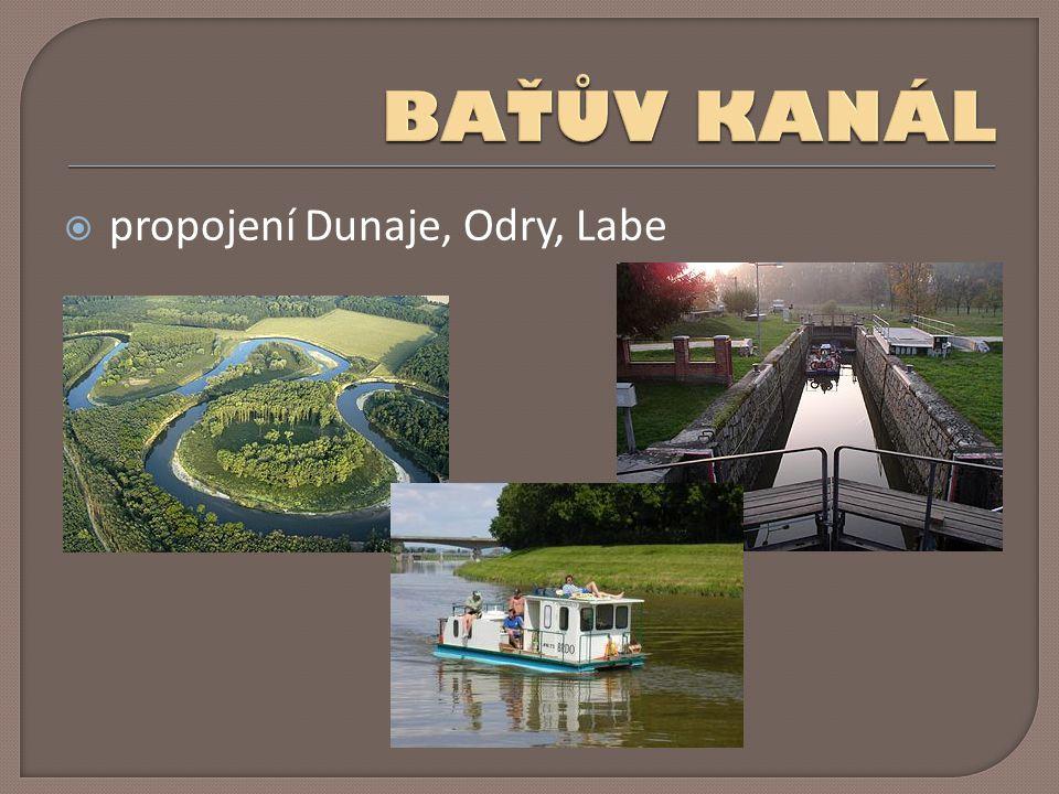  propojení Dunaje, Odry, Labe