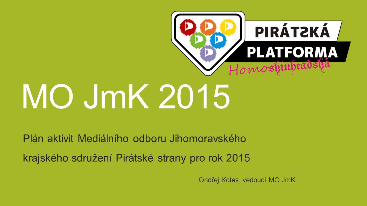 MO JmK 2015 Plán aktivit Mediálního odboru Jihomoravského krajského sdružení Pirátské strany pro rok 2015 Ondřej Kotas, vedoucí MO JmK