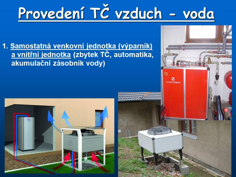 Provedení TČ vzduch - voda 2.