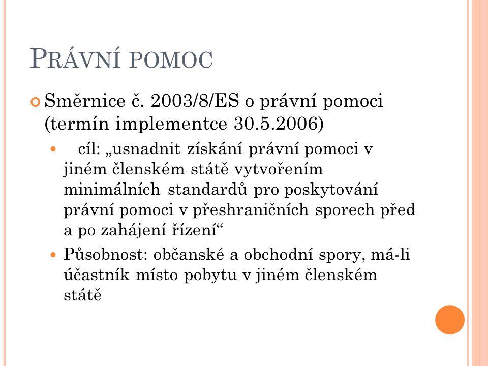 P RÁVNÍ POMOC Směrnice č.