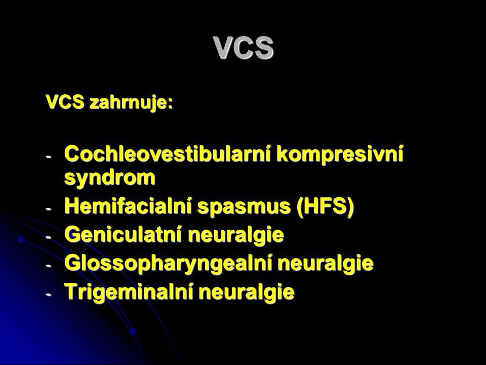 Symptomy Doba trvání 3 – 19 roků Doba trvání 3 – 19 roků Tinnitus 90% Tinnitus 90% Unilateralní Hypakuse85% Unilateralní Hypakuse85% Vertigo 60% Vertigo 60% Bilateralní Hypakuse 10% Bilateralní Hypakuse 10%