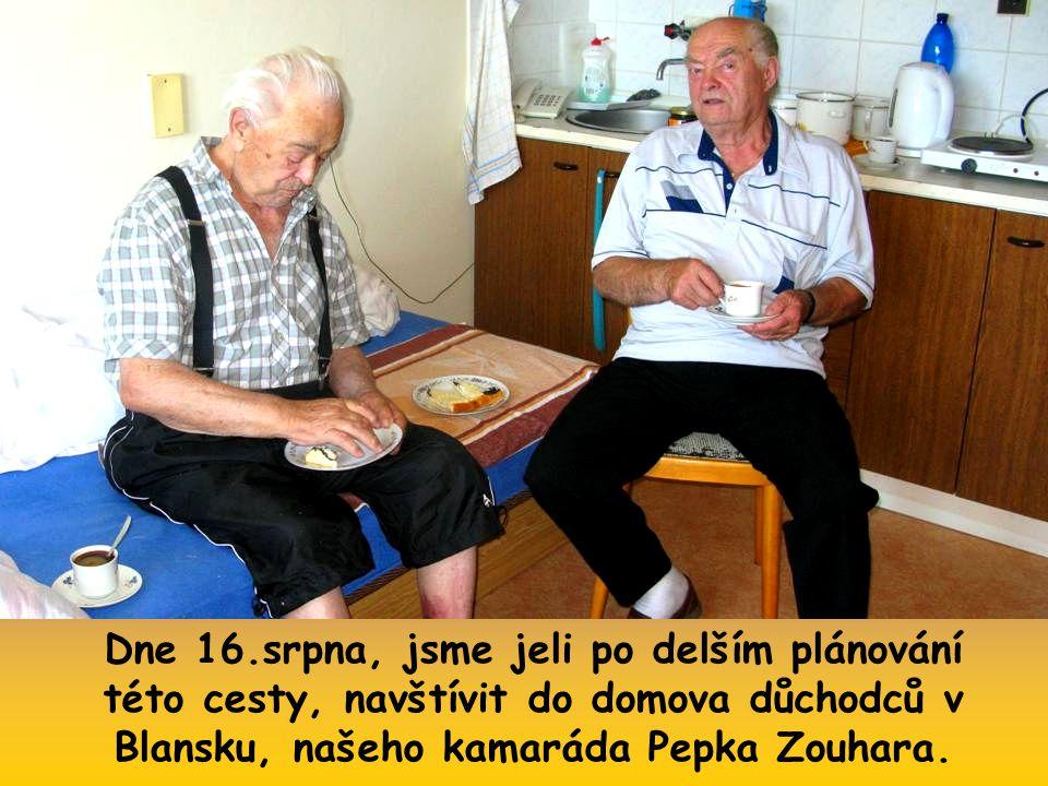 Dům důchodců v Blansku, kde přebývají také někteří naši molenburští rodáci.