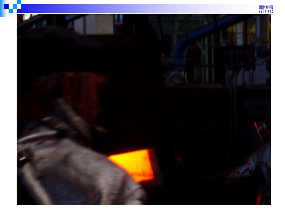 Vypálení keramické skořepiny - průběžná pec