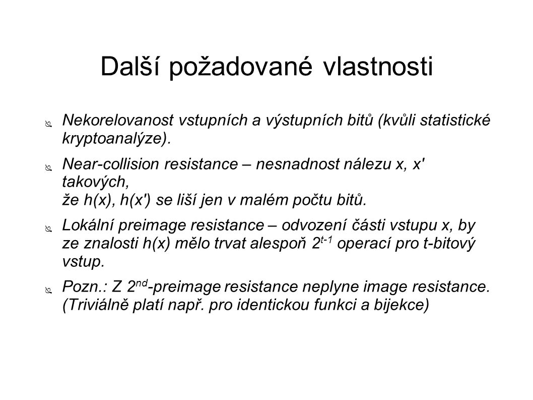 Zdroje ● Handbook of Applied Cryptography (A.Menezes, P.