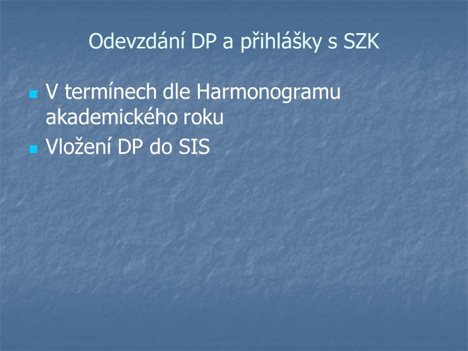 Teze DP Viz šablona Diplomový seminář I. a II.