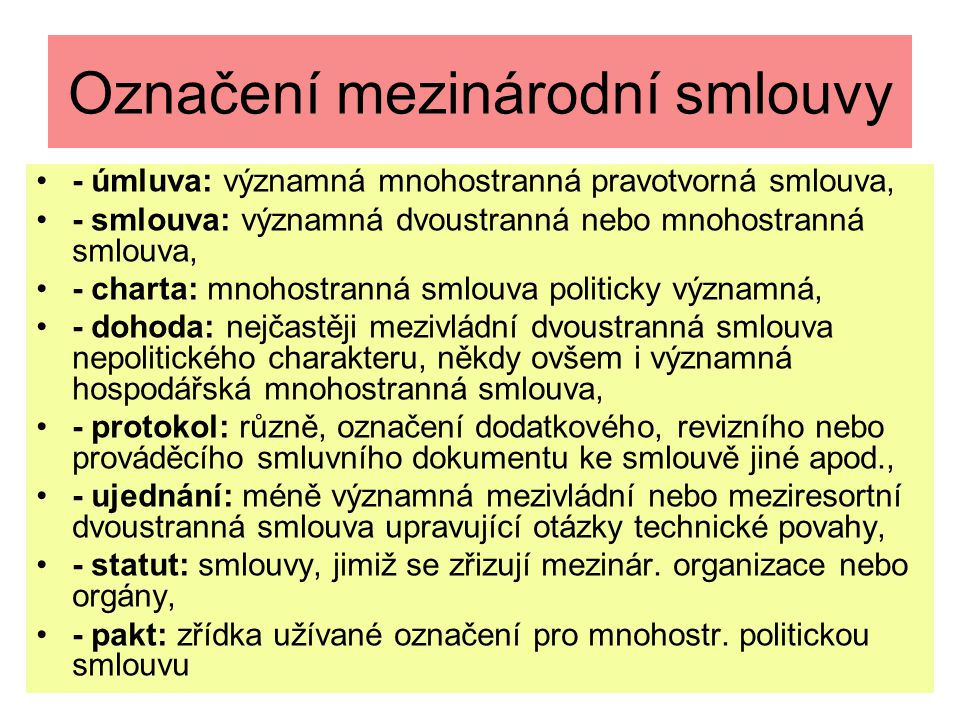 Závěrečná ustanovení smlouvy - 1 Čl.