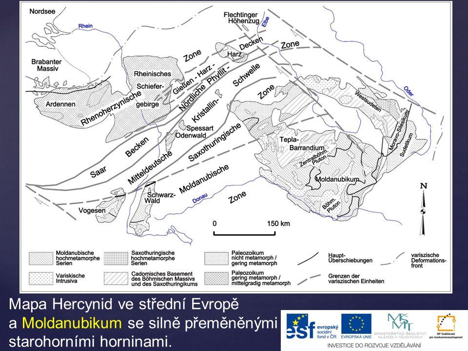 Barrandien  oblast mezi Prahou a Plzní  starohorní a staroprvohorní nepřeměněné mořské usazeniny – s velkým množstvím zkamenělin (také trilobitů)  jílové břidlice, vápence a slepence  součástí je i Český kras – silurské a devonské vápence – Koněpruské jeskyně Prvohory