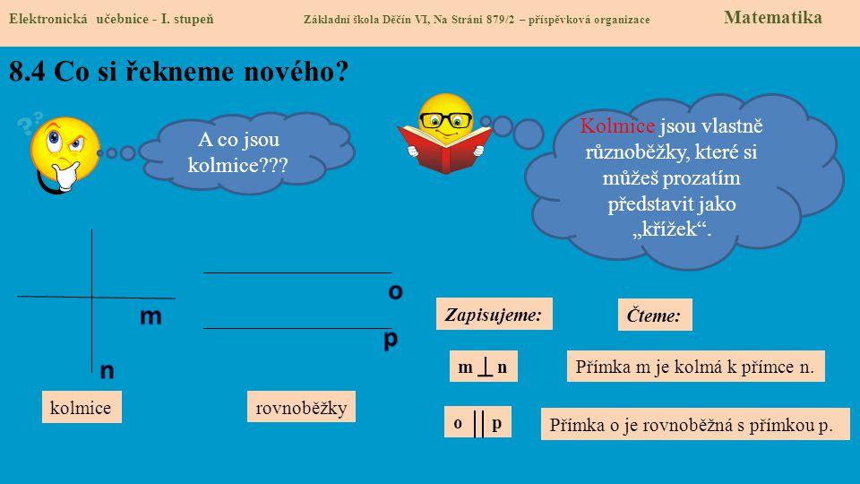 8.5 Procvičení a příklady Elektronická učebnice - I.