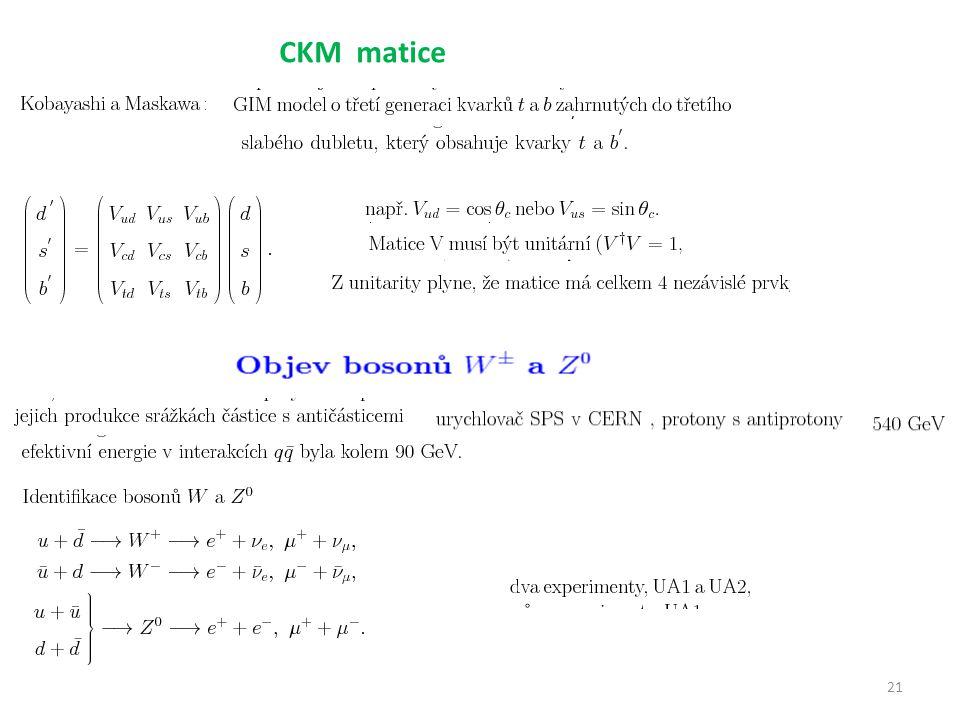 21 CKM matice