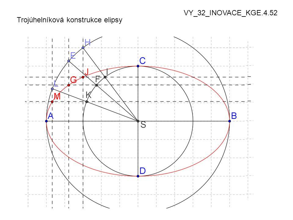 Trojúhelníková konstrukce elipsy VY_32_INOVACE_KGE.4.52