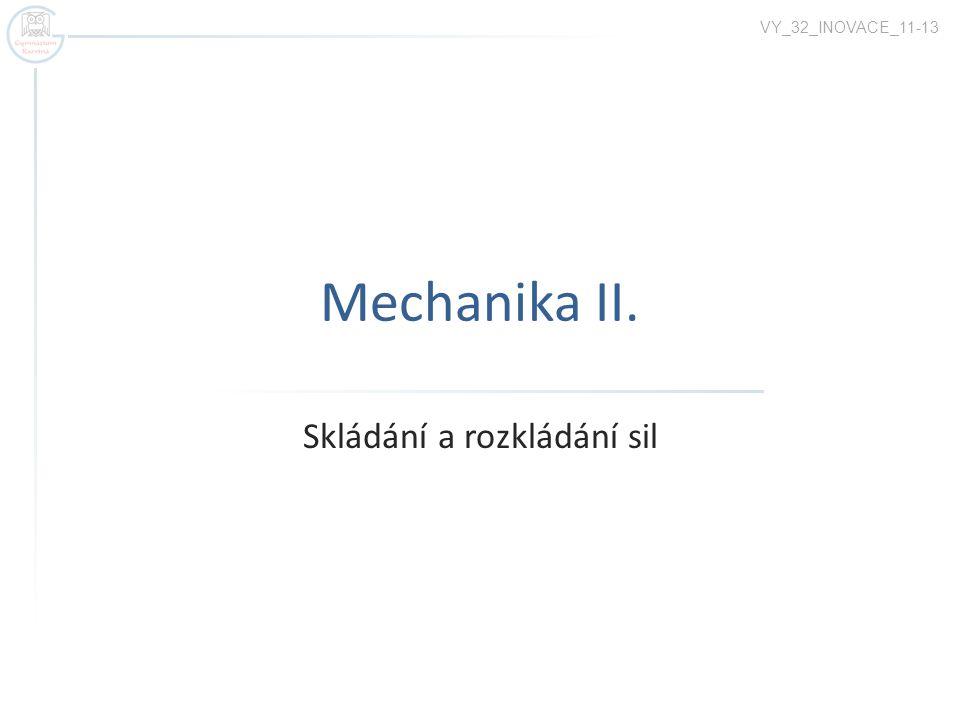 Mechanika II. Skládání a rozkládání sil VY_32_INOVACE_11-13