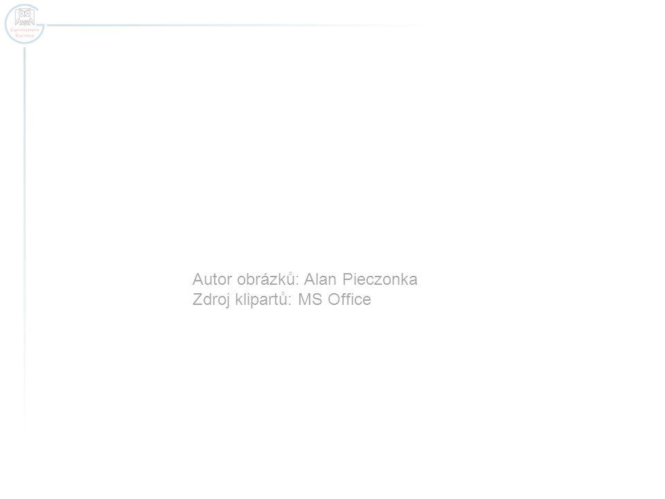 Autor obrázků: Alan Pieczonka Zdroj klipartů: MS Office